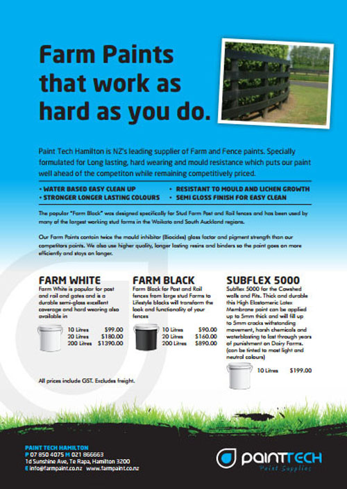 Buy now farm paint flyer PAINTTECH